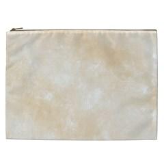 Pattern Background Beige Cream Cosmetic Bag (xxl)  by Onesevenart