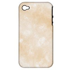 Pattern Background Beige Cream Apple Iphone 4/4s Hardshell Case (pc+silicone) by Onesevenart