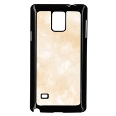 Pattern Background Beige Cream Samsung Galaxy Note 4 Case (black) by Onesevenart
