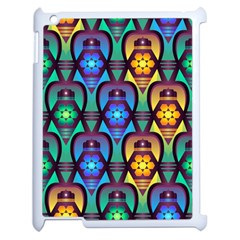 Pattern Background Bright Blue Apple Ipad 2 Case (white) by Onesevenart