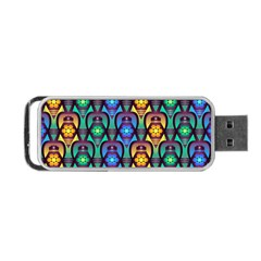 Pattern Background Bright Blue Portable Usb Flash (one Side) by Onesevenart