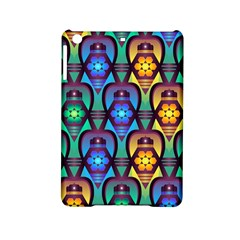 Pattern Background Bright Blue Ipad Mini 2 Hardshell Cases by Onesevenart