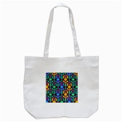 Pattern Background Bright Blue Tote Bag (white) by Onesevenart