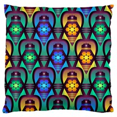Pattern Background Bright Blue Standard Flano Cushion Case (one Side) by Onesevenart