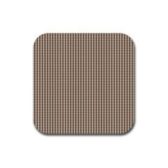 Pattern Background Stripes Karos Rubber Square Coaster (4 Pack)  by Onesevenart