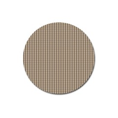 Pattern Background Stripes Karos Magnet 3  (round) by Onesevenart