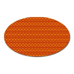 Pattern Creative Background Oval Magnet by Onesevenart