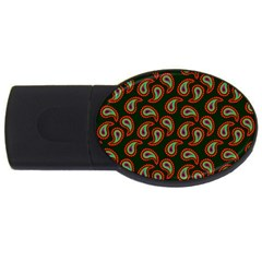 Pattern Abstract Paisley Swirls Usb Flash Drive Oval (4 Gb) by Onesevenart