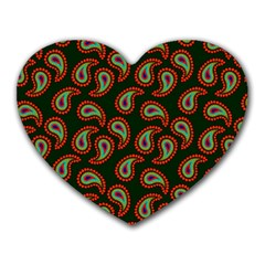 Pattern Abstract Paisley Swirls Heart Mousepads by Onesevenart