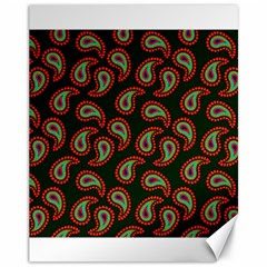 Pattern Abstract Paisley Swirls Canvas 11  X 14   by Onesevenart
