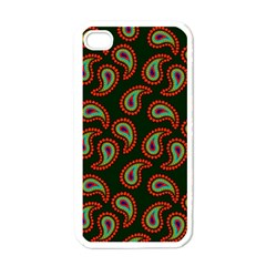 Pattern Abstract Paisley Swirls Apple Iphone 4 Case (white) by Onesevenart