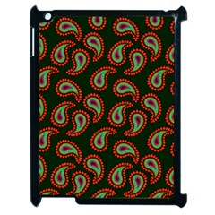 Pattern Abstract Paisley Swirls Apple Ipad 2 Case (black) by Onesevenart