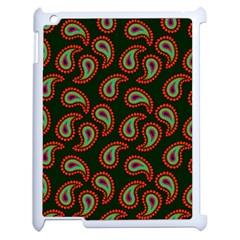 Pattern Abstract Paisley Swirls Apple Ipad 2 Case (white) by Onesevenart