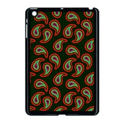 Pattern Abstract Paisley Swirls Apple Ipad Mini Case (black) by Onesevenart