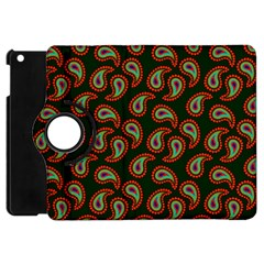Pattern Abstract Paisley Swirls Apple Ipad Mini Flip 360 Case by Onesevenart