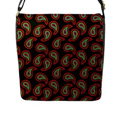 Pattern Abstract Paisley Swirls Flap Messenger Bag (l)  by Onesevenart