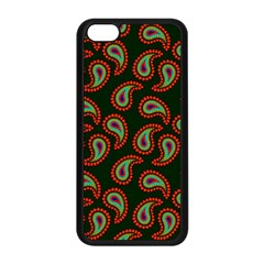 Pattern Abstract Paisley Swirls Apple Iphone 5c Seamless Case (black) by Onesevenart