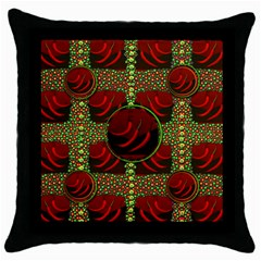 Spanish And Hot Throw Pillow Case (black) by pepitasart
