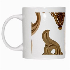 Pattern Motif Decor White Mugs by Onesevenart