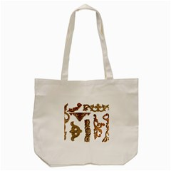 Pattern Motif Decor Tote Bag (cream) by Onesevenart