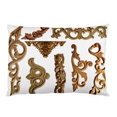 Pattern Motif Decor Pillow Case by Onesevenart