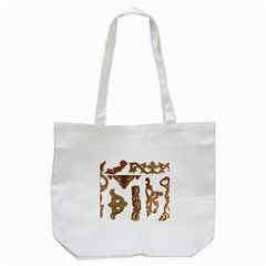 Pattern Motif Decor Tote Bag (white) by Onesevenart