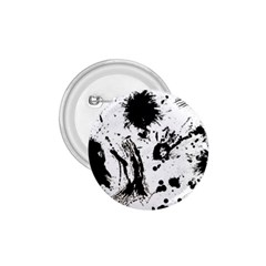 Pattern Color Painting Dab Black 1 75  Buttons by Onesevenart