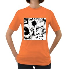 Pattern Color Painting Dab Black Women s Dark T Shirt by Onesevenart