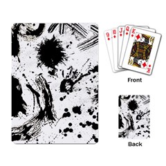 Pattern Color Painting Dab Black Playing Card by Onesevenart