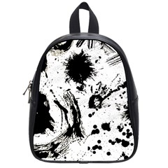 Pattern Color Painting Dab Black School Bags (small)  by Onesevenart