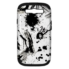 Pattern Color Painting Dab Black Samsung Galaxy S Iii Hardshell Case (pc+silicone) by Onesevenart