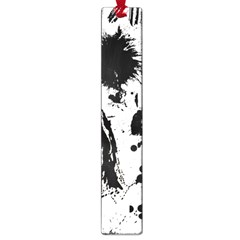 Pattern Color Painting Dab Black Large Book Marks by Onesevenart