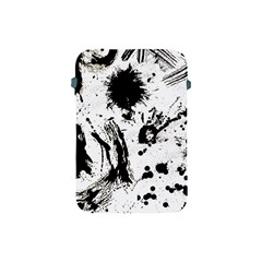 Pattern Color Painting Dab Black Apple Ipad Mini Protective Soft Cases by Onesevenart
