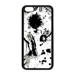 Pattern Color Painting Dab Black Apple Iphone 5c Seamless Case (black) by Onesevenart