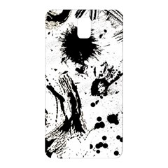 Pattern Color Painting Dab Black Samsung Galaxy Note 3 N9005 Hardshell Back Case by Onesevenart