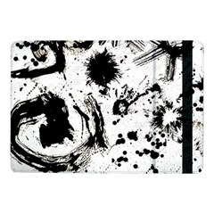 Pattern Color Painting Dab Black Samsung Galaxy Tab Pro 10 1  Flip Case by Onesevenart