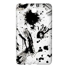 Pattern Color Painting Dab Black Samsung Galaxy Tab 4 (7 ) Hardshell Case  by Onesevenart