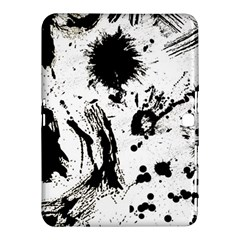 Pattern Color Painting Dab Black Samsung Galaxy Tab 4 (10 1 ) Hardshell Case  by Onesevenart