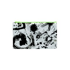 Pattern Color Painting Dab Black Cosmetic Bag (xs) by Onesevenart
