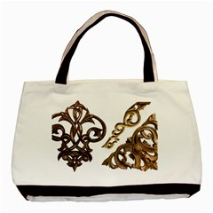 Pattern Motif Decor Basic Tote Bag by Onesevenart