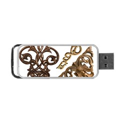 Pattern Motif Decor Portable Usb Flash (one Side) by Onesevenart