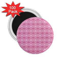 Pattern Pink Grid Pattern 2 25  Magnets (100 Pack)  by Onesevenart