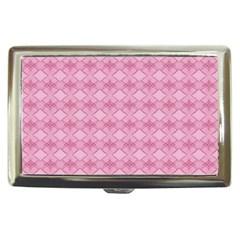 Pattern Pink Grid Pattern Cigarette Money Cases by Onesevenart
