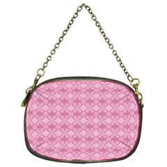 Pattern Pink Grid Pattern Chain Purses (two Sides)  by Onesevenart