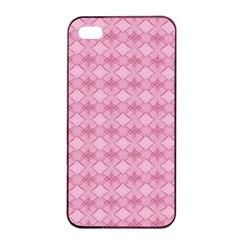 Pattern Pink Grid Pattern Apple Iphone 4/4s Seamless Case (black) by Onesevenart