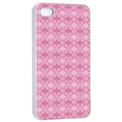 Pattern Pink Grid Pattern Apple Iphone 4/4s Seamless Case (white) by Onesevenart