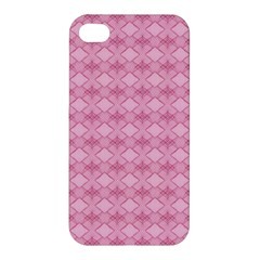 Pattern Pink Grid Pattern Apple Iphone 4/4s Premium Hardshell Case by Onesevenart