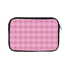 Pattern Pink Grid Pattern Apple Ipad Mini Zipper Cases by Onesevenart