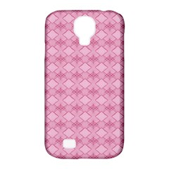 Pattern Pink Grid Pattern Samsung Galaxy S4 Classic Hardshell Case (pc+silicone) by Onesevenart