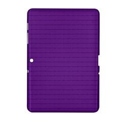 Pattern Violet Purple Background Samsung Galaxy Tab 2 (10 1 ) P5100 Hardshell Case  by Onesevenart